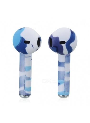 Platoon I7s Tws Kamuflaj 4.2 Stereo Bluetooth Kulaklık - Şarj Üniteli Mavi
